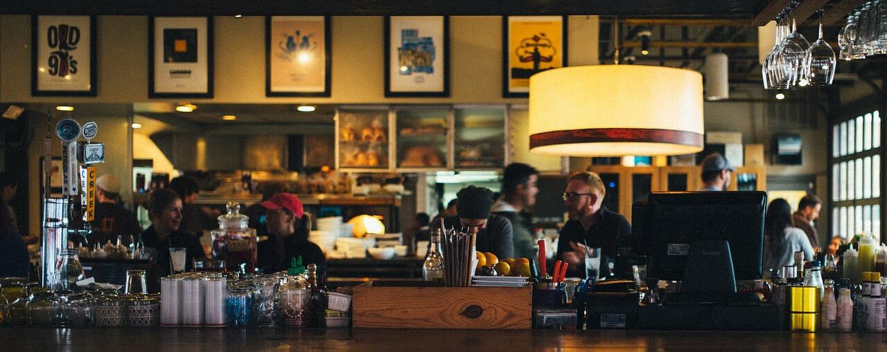 Busy Restaurant Cafe Bar