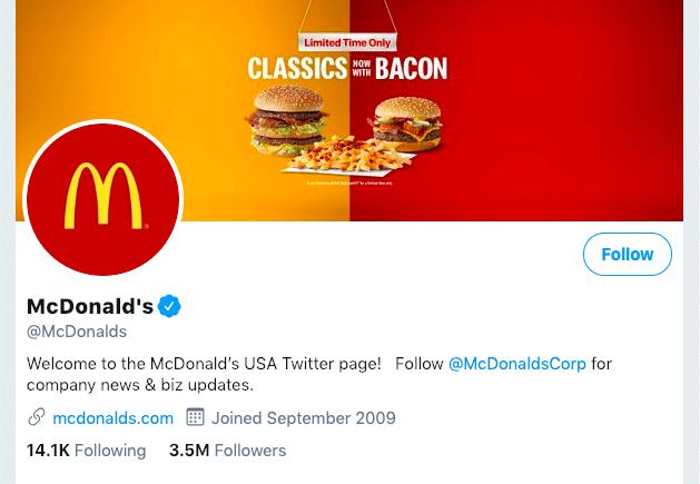 Mcdonald's Business Twitter
