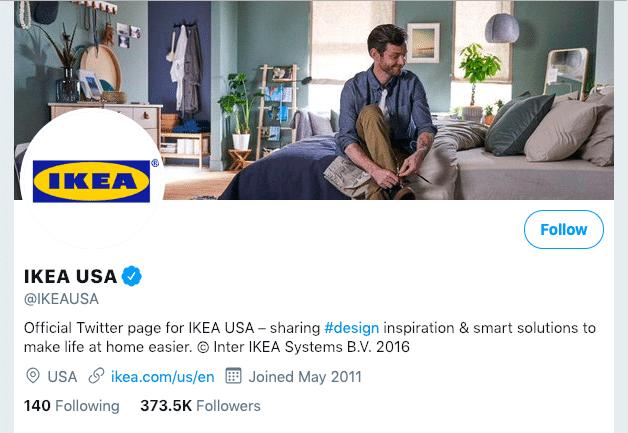 Ikea USA Business Twitter