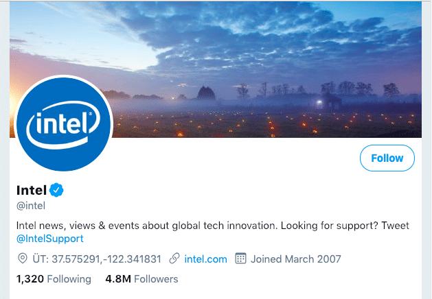 Intel Business Twitter