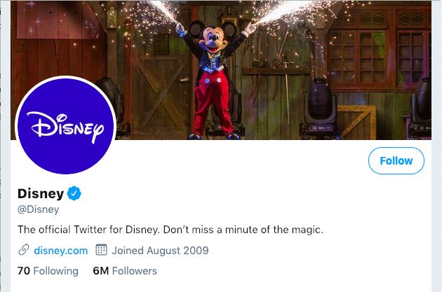 Disney Business Twitter